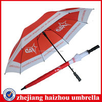 steel frame and fiberglass ribs straight golf umbrella,uv sun protection straight golf umbrella