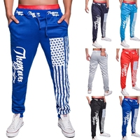 New style flag printing design casual sports pants jogging pants