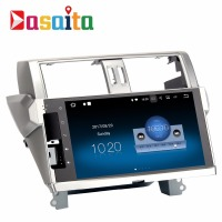 "Dasaita 10.2"" Android 7.1 car audio radio gps navigation player no dvd for Toyota new Prado 150 2014 2015 with 8 core 32Gb RAM"