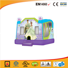 PVC material outdoor use princess inflatable jumping castle