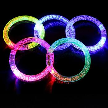 Top Quality Top Selling Company Gifts With Logo 2018 Toy Flashing Bubble Led Bracelet