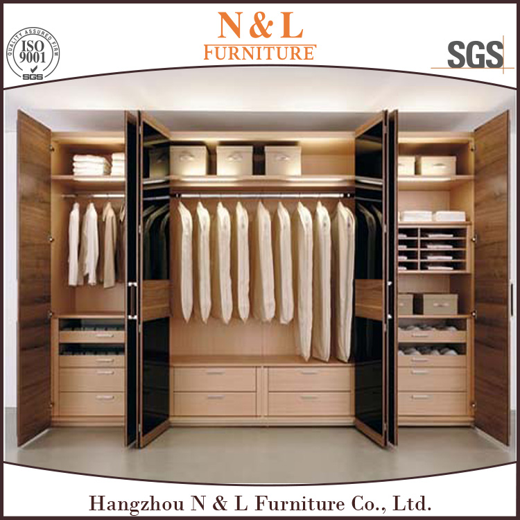 Middlle East wooden bedroom almirah designs/ modern wardrobe design/ 3 doors wardrobe closet with mirror