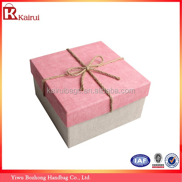 Custom Paper Cardboard Cosmetic Packaging Fancy Empty Linen Mache Gift Boxes Wholesale (Set of Three)