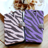 Zebra Stripe_Happymori Design Flip Phone Cover Case for Apple iPhone 6 (Made in Korea)