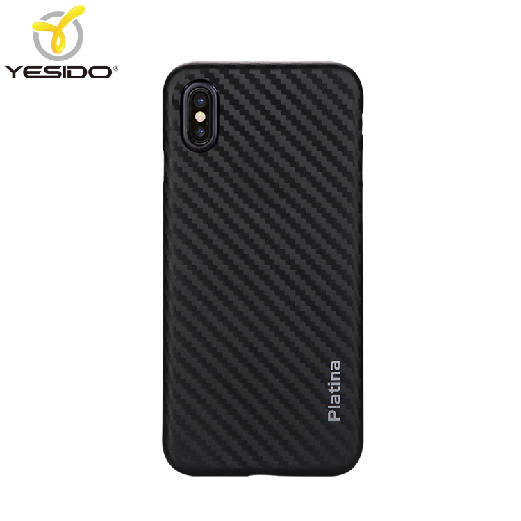 Yesido new arrival custom logo printed for iphone case carbon fiber mobile phone <strong>cover</strong> for iphone X case