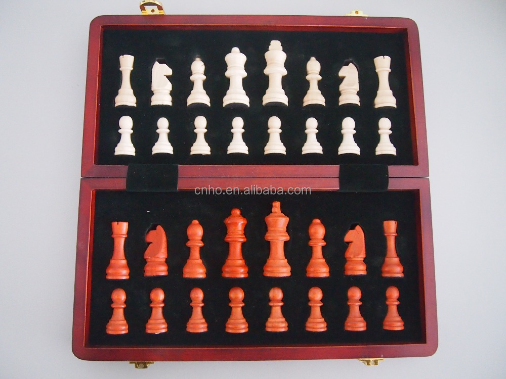 Antique wooden chess game folding chess board chess game Where can i buy a chess game