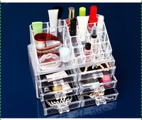 Desk top 6 drawers clear acrylic makeup storage box