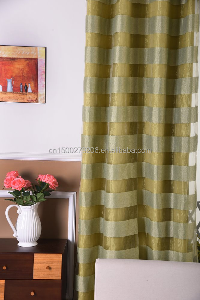 100% polyester ready made double layer blackout window curtain