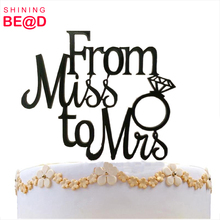 Attractive Unique Wedding Cake Topper From Miss To Mrs Bridal Shower Cake Topper For Wedding Party Decorating