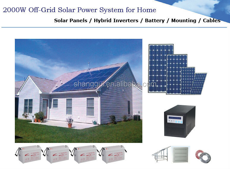 2KW solar energy power system for home use design tailor-made