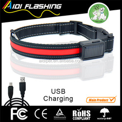 Solar and USB LED dog collar CE&Rohs conform