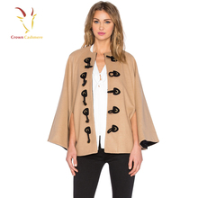 Fashion Woven Wholesale Merino Wool Poncho For Lady