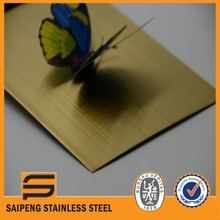Famous brand large stock color hairline decorative stainless steel sheet 304 0.5mm thick for metal materials