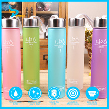 300ML Colorful Factory Supply Healthy BPA Free Polishing Plastic Water Bottle