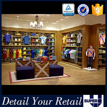 Modern clothing display fabric store shelving equipment for retail store