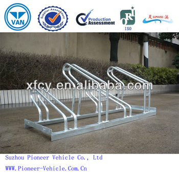 Best Sale Hot Dipped Display BIcycle parking Stand Floor Mounted Parking Stand (ISO Certified)