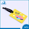 Factory sell logo printing rubber pvc luggage tag wholesale