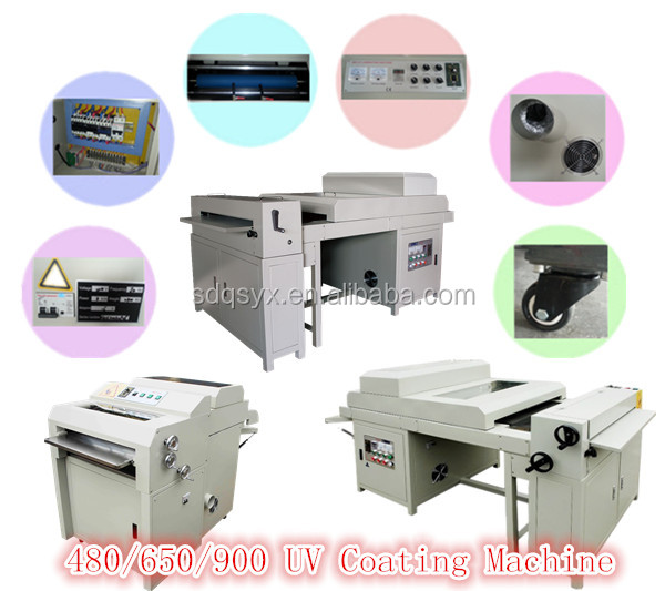 650 digital uv embossing machine , uv coating varnish machine for sale