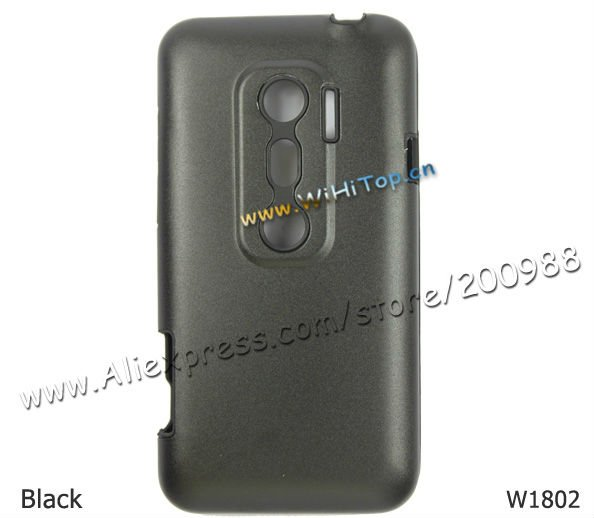 Aluminum + Silicon Dual Cover Hard Back Case for HTC EVO 3D X515C