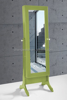 antique solid wood frame dressing mirror /used for shop green dressing mirror/clothes dressing mirror
