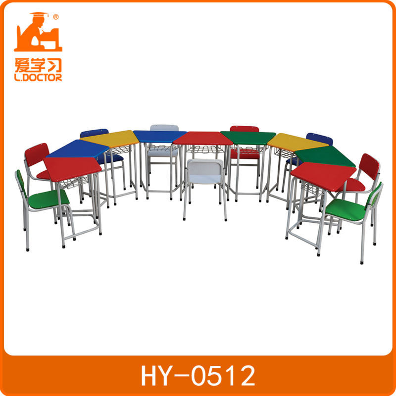 colorful kids desk and chair set