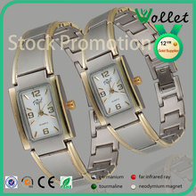 Bling CZ Stone Stainless Steel Back Water Resistant Mens Wrist Watch
