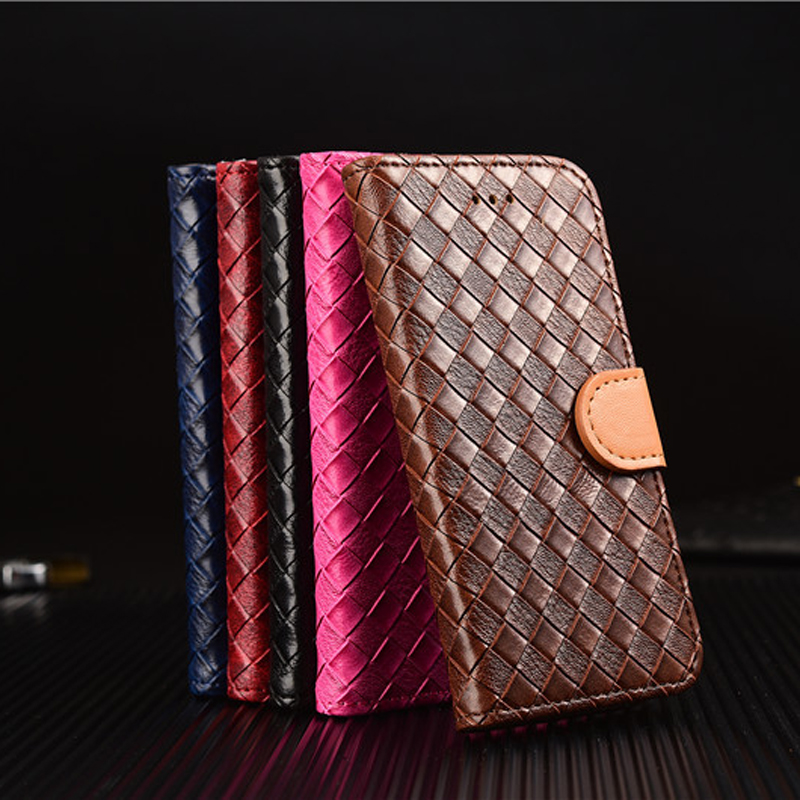 Woven Pattern PU Leather Wallet Case with Card Slots,Ultra Slim Folio Book Cover Case for iPhone 7/7p