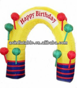 2013 amazing design birthday inflatable arch