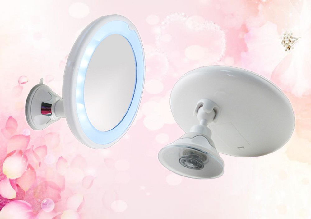 plastic wall led suction cup mirror