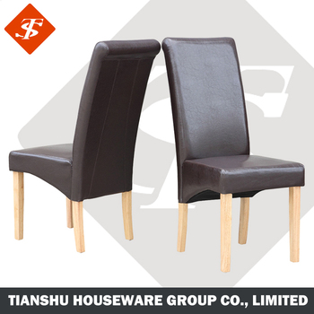 High Back Leather Cover Wooden Padded Parson Modern Dining Chair Buy Dining
