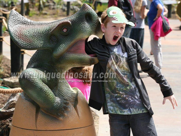 Theme Park Decoration Dinosaur Egg Garbage Can
