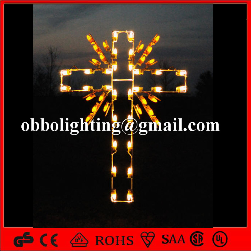 Holiday decorative 2d led cross light IP44