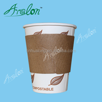 Customized Printable Sleeve for 10oz/12oz/16oz Disposable Hot Drinking Coffee Paper Cup