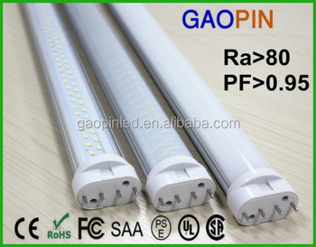 SAA ROHS CE China daylight led tube factory 2G11 PL 4 Pin18W GY10