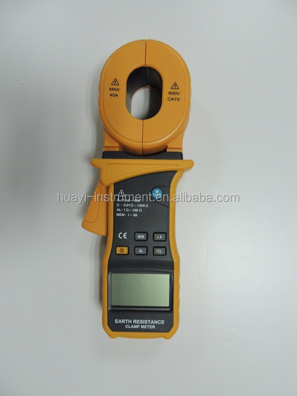 Clamp On Ground Earth Resistance Tester MS2301, 9999 counts 0.01 ~ 1200 Ohm digital earth resistance clamp tester MS2301
