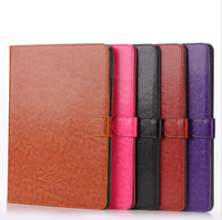 High quality flip stand with card slot leather case for iPad air 2