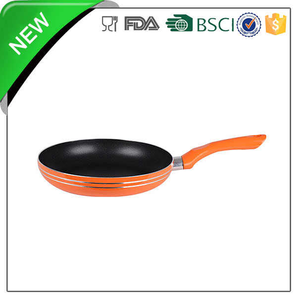 20cm aluminum black non-stick mini egg frying pan with silicone handle
