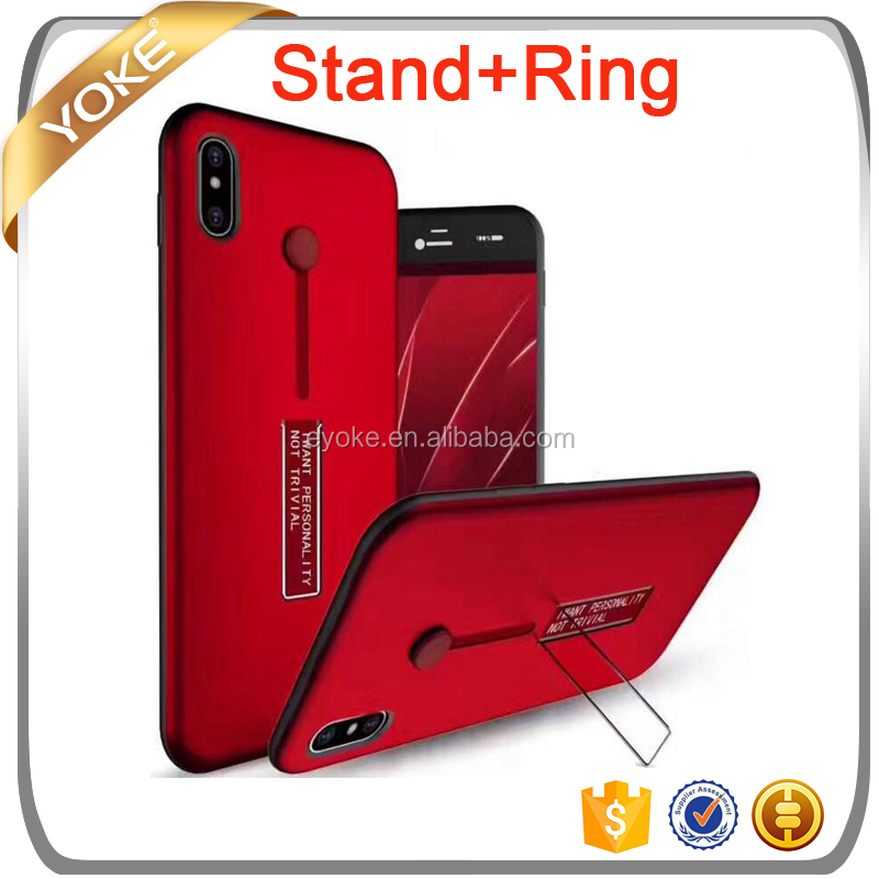 Stand and Ring Phone Shell 2 in 1 TPU PC Mobile Phone case for iPhone7 plus