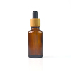 wholesale 30ml clear green blue amber glass dropper bottle with bamboo lid for e-liquid