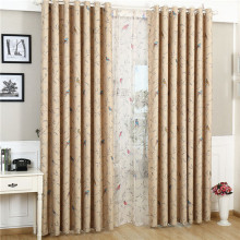 New design printed curtains Flowers and birds pattern curtain fabric for curtains and draperys