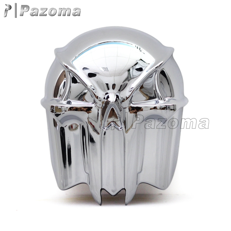 In Stock ! Pazoma High Quality Plastic Chrome Skull Horn Cover For 1992-2013 Harley Softail Touring Dyna