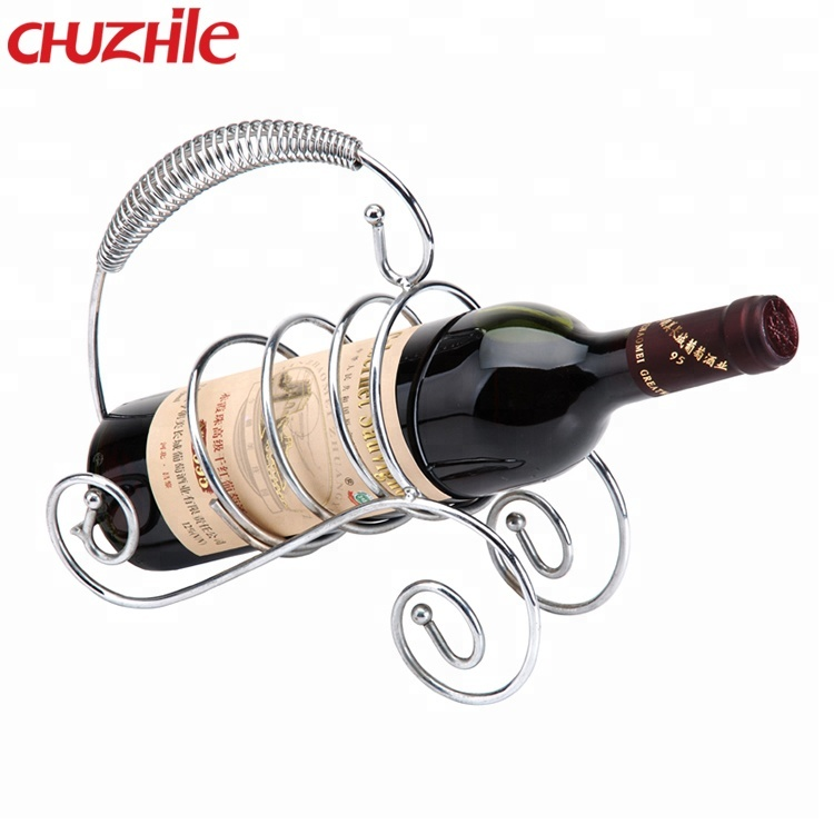 Latest Design Stainless steel simple hanging wine glass rack