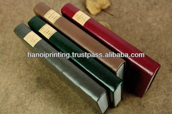Hard cover Book printing with embossed leather bound