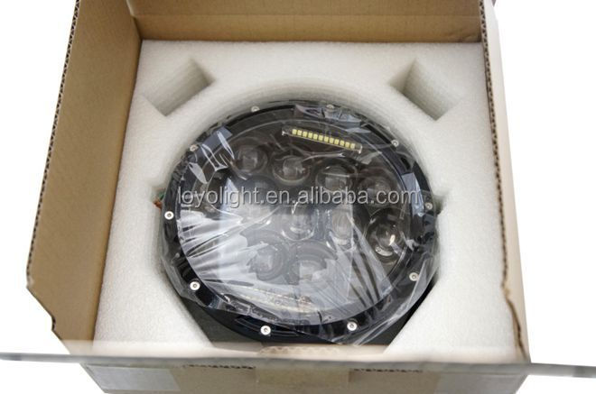 "130W Osram Amber Halo Ring 7"" High/Low Beam led Headlight for Jeep Wrangler LY -LN-001"