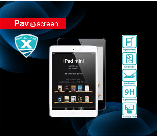 clear screen protecor for IPAD2/3/4 tempered glass screen protector
