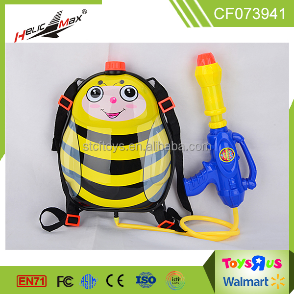 2016 Innovative Product cartoon bee animal water gun backpack toys for kids