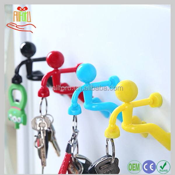 More Care Novelty Wall Climbing Strong Magnetic Man Style Keyring Holder