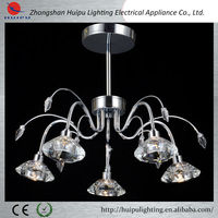 High Quality Led Modern Ceiling Lamps lamp with K9 Crystal shade