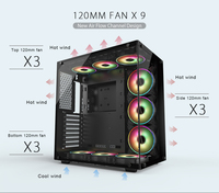 4.0mm tempered glass PC case caomputer cabinet