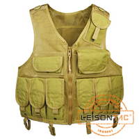 Mesh Tactical Vest stitched by high strength 4 ply nylon thread/Breathable and comfortable